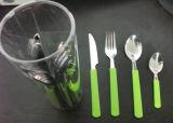 Цветастый комплект Cutlery нержавеющей стали 24PCS с пластичной ручкой