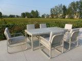 의자 대화를 가진 알루미늄 테이블은 옥외 정원을%s 놓았다