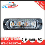 Indicatore luminoso sottile 12-24V dello stroboscopio del supporto 4W dell'ambra 4 LED
