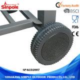 Mini barbacoa de carbón de acero inoxidable mini acero de 4 ruedas para la venta