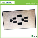 Socket de pared estándar americano del USB del doble, interruptor de la pared, enchufe