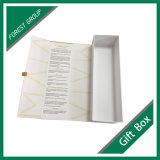 Venda por atacado magnética de empacotamento branca impressa costume da caixa de presente do fechamento das caixas