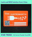 Tarjeta plástica de los ahorros para el cliente con la raya magnética (ISO 7811)