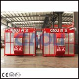 Gaoliの二重ケージの物質的な起重機/建物の乗客および貨物上昇