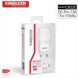 Secs micro C822e de chargeur modèle de Kingleen orientent exportation d'usine du fil 5V1.5A de la charge 1.2m la plus grande vers l'Europe