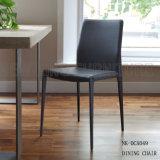 Neuer Form PU-Rückseiten-und Bein-Armless speisender Stuhl (NK-DCA049)