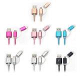 5V 2A 2 em 1 dados da sincronização que cobra o cabo do USB para o iPhone Android