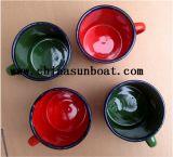 Taza de té de estilo chino Taza de esmalte Copa de leche Taza de té