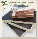 China barato recicló una madera contrachapada hecha frente película de la insignia 18m m de la prensa del tiempo 8-10 veces