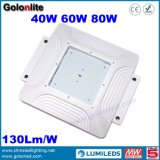 130l / W 5 anos de garantia Meanwell Driver Canopy 40W 60W 80W Gas Station Canopy Light LED