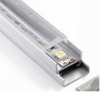4203. Perfil de alumínio de canto anodizado do diodo emissor de luz para a lâmpada do diodo emissor de luz