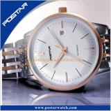 Orologio di vetro personalizzato classico delle coppie dell'OEM della data di giorno dello zaffiro