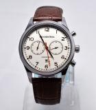 316 vigilanza svizzera del cronografo di affari del movimento 5ATM della cinghia genuina della cassa di acciaio inossidabile
