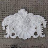Shell van het polyurethaan Centrum met het Blad van de Rol Pu Applique/Onlay/Ornament hn-S021