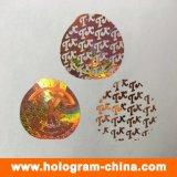 Etiqueta do holograma do laser da matriz de PONTO 3D do costume 2D
