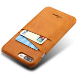 iPhone 7のための本物の札入れの革箱