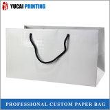 Подгонянная хозяйственная сумка белой бумаги для упаковывать