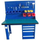 L'acciaio lavora la stazione di lavoro della Tabella di lavoro dei cassetti con gli strumenti parete ed indicatore luminoso