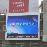 P4 que hace publicidad de la pantalla de visualización al aire libre a todo color de LED