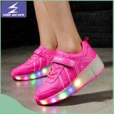 Zapatos calientes de la alta calidad LED de la venta con 7 colores para los hombres