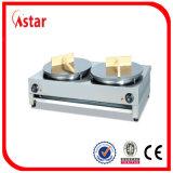Gauffreuse de contre- dessus d'acier inoxydable avec 2/3 plaque Grooved du plat 1/3, vente chaude de gauffreuse électrique
