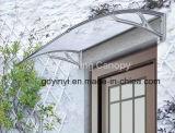 Pabellón plástico del policarbonato de Trasparent del brazo de la hoja de la PC 70*120 de la puerta principal de la cubierta sólida de la lluvia
