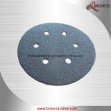 """"""" disco abrasivo del Velcro del carburo de silicio 4.5 (PSA/disco del gancho de leva y del bucle)"""