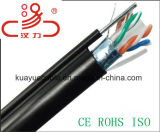 UTP, solide, câble Ethernet Copper noir CAT6 (CMR) / Câble d'ordinateur / câble de données / câble de communication / connecteur / câble audio