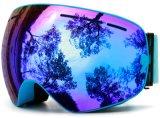 Lunettes adultes de Snowboard du Snowmobile UV400 en verre antibrouillard de patin
