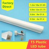 Tubo plástico de T5 LED
