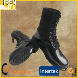 Black Genuine Cow Leather Quick Wear Cheap Military Jungle Boots