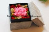La nueva talla grande preservada de las rosas de la buena calidad del diseño en vidrio preservó las flores frescas