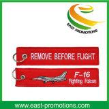 Goedkope de Bevordering van de douane verwijdert vóór het Borduurwerk Keychains van de Vlucht