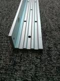 perfil en forma de L de aluminio de plata anodizado 6061t6 del ángulo con el CNC