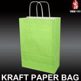 Muti 색깔에 의하여 인쇄되는 Kraft 종이 봉지 쇼핑 백