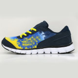 Entraîneurs de marche de bleu d'hommes de chaussures de course de chaussures classiques de sports