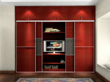 ホーム家具のフォーシャンの工場価格(UL-WR057)でなされる現代木のラッカーワードローブ