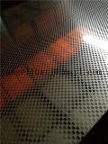 La configuration de Suqure a gravé la bobine en relief d'acier inoxydable de miroir pour le prix décoratif de panneau de porte