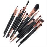 jogo de escova cosmético da composição 15PCS com as escovas do lápis de sobrancelha da sombra