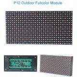 Módulo Fullcolor ao ar livre do plástico 1r1g1b do módulo P12 do indicador de diodo emissor de luz
