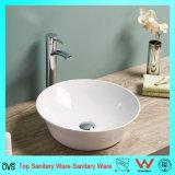 Lavabo di ceramica della contro parte superiore della stanza da bagno del più nuovo bordo sottile sottile eccellente