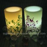 Luz Flameless a pilhas romântica Flameless da vela do diodo emissor de luz do brilho da coluna