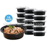 1 коробка еды пластмасового контейнера отсека прозрачная круглая устранимая