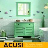 Meubles simples américains en gros de la meilleure qualité neufs de salle de bains de Module de salle de bains de vanité de salle de bains en bois solide de type (ACS1-W53)