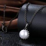 Juwelen van de Manier van de Vrouwen van de Halsband van de Tegenhanger van het Bijvoegsel van de Diamant van de parel de Zwarte Kanon Geplateerde