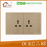 2 Gang 1 Way Push Button Light Wall Switch