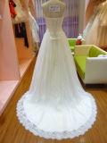 Vestido de casamento branco Uw4012 do vestido de casamento de Rouched do grânulo