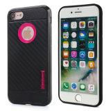 Kohlenstoff-Faser Motomo Handy-Fälle für iPhone 7 Fall