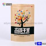 Packpapier-Fastfood- mit Reißverschlussbeutel für gute Qualitätsdörrobst