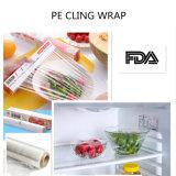 Film de conditionnement physique pour aliments doux PE Cling pour les aliments largement utilisés dans l'emballage autour des aliments, des confiseries, des légumes, des fruits,